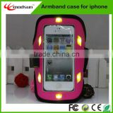 China product shenzhen factory Waterproof universal LED sport armband for iPhone5/5S (MAC220)