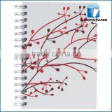 School spiral notebook with hard printed paper cover