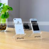 Clear Acrylic Desktop Mobile Phone Display Cellphone Holder Acrylic Smart Phone Display Stand