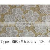 2015 Water soluble lace latest hairband designs flower New arrival lace fabric gowns elastic lace many color and style