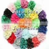 3.75 inch fashion wedding flower heads / lace artificial flower hair accessories                                                                                                         Supplier's Choice