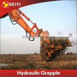 BEIYI hydraulic rotary log grapple, log grapple for excavator spare parts                                                                                                         Supplier's Choice