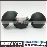 ball shape luxury custom color cosmetic painted color plastic containers spherical bottom price china factory