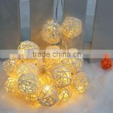 Waterproof Solar 20led Christmas Vine Ball Holiday Lights LED Strings Party Lights Fairy Lights Cristmas For Decoration