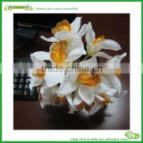 factory customized top sell cheap bride wedding bouquets artificial silk Cymbidium flowers