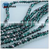 Green square beads wholesale jewelry round shape glass wedding beads items for sale in bulk