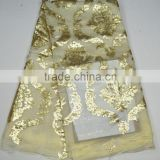 Nigerian lace fabrics african lace with sequins wholesale korea silk for evening dress                                                                         Quality Choice