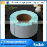 Adhesive Blank White Price Sticker And Self-adhesive Anti Theft Product Variable Print Data Paper Roll Barcode Label