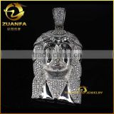 wholesale cheap high polish stainless steel jesus head pendant