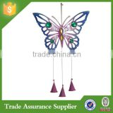 Factory Direct Metal Butterfly Wind Chimes for Garden Decor