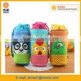 kids cartoon cloth bag holding water bottle, baby milk bottle cooler bag insulation sleeve                                                                                                         Supplier's Choice