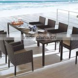 UGO Patio Furniture Outdoor Round Rattan Dining Set/Banquet Used Dining Set