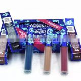 2016 New Arrival Makeup VELVETINES lip gloss Cupid liquid lipstick matte 3 colors True Love Saint Lipstick Blue Package