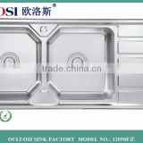 304 stainless steel kitchen sink double bolw basin                                                                         Quality Choice                                                                     Supplier's Choice