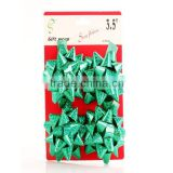gift packing star pvc glitter for christmas