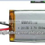Factory price 800mah recharegeable lithium ion battery 603443p for Tablet PC Camera made in china