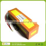 hot seller rechargeable lithium electric bike /bicycle ebike LiFePO4 battery pack 24V 10Ah(yellow color)
