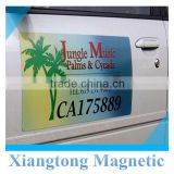 eco friendly water proof advertising logo custom magnetic car door sticker, car magnetic sticker