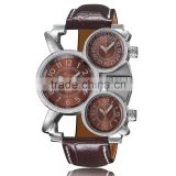 factory wholesale 30ATM Genuine Leather Fashion Mechanical Watch for Men