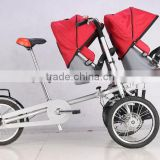 twins baby stroller baby pram mother and child bicycle