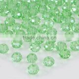 Wholesale!! Latest!! Fashion Crystal Jewelry Chrysolite 5040 Briolette Bead Crystal Faceted Glass Bead 4mm