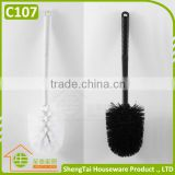 Black And White Brush Head And Handle Removeable Plastic Toilet Brushes