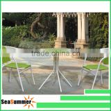 2015 color glass top cafe table chair set/bistro set
