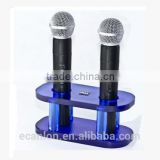 Clear customized acrylic microphone stand
