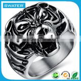 2016 Trending Products Stainless Steel Gold Lion Head Ring
