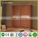 New model customized wooden bedroom two sliding doors wardrobe for home decoration