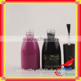 empty nail polish bottle with silver cap for fancy nail polish glass bottle with candy color