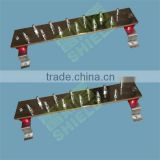 Red Copper Ground Bus Bar For Terminal Block Reazy