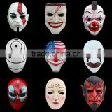 resin harvest day terror Halloween mask Cosplay Halloween Gifts Resin Payday 2 Scary Clown Mask