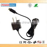Shenzhen factory 2.5W 5V 0.5A Type C Wall mount ac dc adapter (UL Approval)