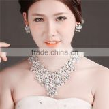 MYLOVE Flower necklace earring set bridal jewelry set crystal statement necklace MLT003