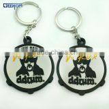 personalized 3d rubber round key chain