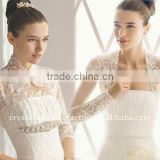 New arrival long sleeve beaded lace wedding bolero CWFaJ2654
