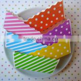 "Stripes and Dots small rectangle paper loaf pans Baking Pans - Mini Cake Pans - Loaf Baking Pans 1.2"" wide X 3.1"" long X 1.4"" h"