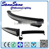 Newest design 50 inch 288w curved off road led light bar for truck 4x4 offroad led light bar off road buggy made in china