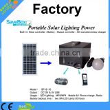 12V Portable solar power system,charge for lihgt/mobile phone