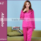 silk/satin women pajama pyjama sleepwear nightwear long sleeves