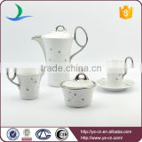 Diamante silver plated ceramic chinese tea set