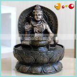 Black colour Fengshui india Buddha water fountain with light