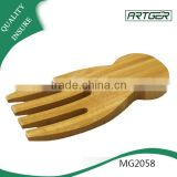 Cheap price custom bamboo salad serving fork salad hand