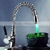 RGB LED kitchen mixer water saving