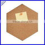Quality different shape corkboard,hexagon shaped corkboard