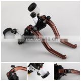 Left Right Motorcycle Brake Lever Clutch Brake Master Cylinder Assy Hydraulic Master Brake Cylinder