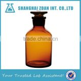 500ml Narrow Mouth Amber Glass Chemical Reagent Bottles With Ground-in Glass Stopper For Lab