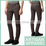Slim Fit Casual Men Trousers Wholesale 2016 New Arrival Stretch-cotton Twill Pants For Men