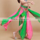 STELISY 2015 high quality exotic ladies long fringe belly dance tribal skirt